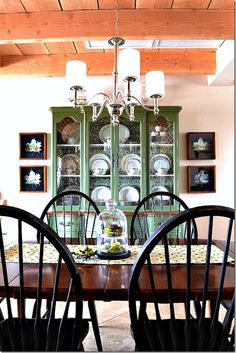 Painted China Cabinet in MMSMP Boxwood - Lil huckleberries
