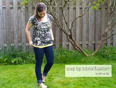 Scoop Top Free Pattern and Tutorial