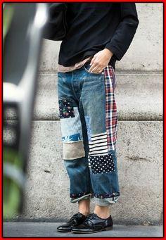 21 Wege, dem Patchwork Jeans Trend zu folgen #folgen #jeans #patchwork #trend