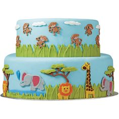 Fondant Gum Paste Mold-Jungle Animals - Overstock™ Shopping - Big Discounts on Wilton Cake Decoration Tools