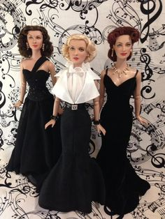 Noel Cruz repaints ~ Vivian Leigh, Bette Davis and Joan Crawford ~ from the collection of Suzanne McD ~ The Studio Commissary