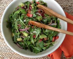 "Fresh and flavorful!  I've made this salad the last two weekends.  Last weekend.... I had tomatoes and avocado on hand and needed to use them before they became over ripe.  I put this recipe together and it turned out SO yummy.   This past weekend... I thought, ""I'm going to make that salad again.""  I went to the…"