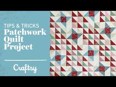 VIDEO TUTORIAL: Patchwork quilt project: Perfect points every time. Do you love the intricate designs of patchwork quilt projects, but fear mismatched points? Then you're in luck with Angela Walters' smart tips to make your piecing shine!  If you're feeling inspired, get the Craftsy-exclusive featured kit.