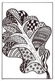 pencil sketch with doodling - Google Search Leaf Coloring, Oak Leaves, Zen Doodle, Christmas Colors, Arabesque, Colored Pencils, Henna, Bing Images, Stencils