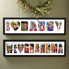 Collage Ideas Personalized Name Photo Frame Loving Them 4251 Father S Day Diy