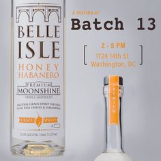 We've got another tasting lined up for our #DC friends at Batch 13. Stop by today from 2-5pm and sample some sweet Ruby Red or spicy Honey Habanero shine.