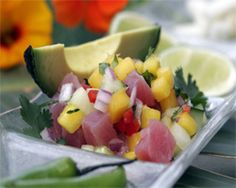 Party Yak: A Ceviche recipe is seafood that cooks itself-- in the refrigerator! A spicy Latin dish that can be appetizer or main dish. Find a terrific party-size recipe for Ceviche. Summer Appetizer Recipes, Mexican Appetizers, Seafood Appetizers, Best Appetizers, Authentic Mexican Recipes, Mexican Food Recipes, Tuna Ceviche, Ceviche Recipe, Guacamole