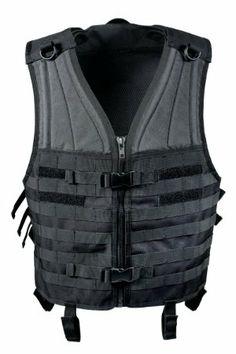 Amazon.com: Black MOLLE Modular Military Tactical Assault Vest: Clothing