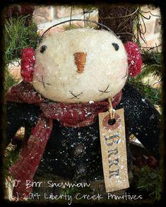 Instant Download BRRR Primitive Snowman by libertycreek on Etsy, $7.50