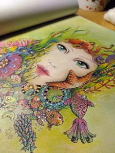 8 Best My Completed Colouring Book Pages Images On Pinterest