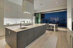 Modern Kitchen with Undermount Sink & Kitchen island in Miami Beach, FL | Zillow Digs