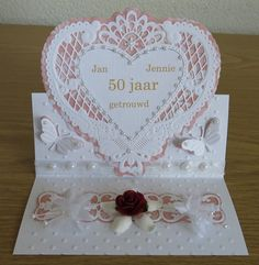 Voorbeeldkaart - 50 jaar getrouwd - Categorie: Stansapparaten - Hobbyjournaal uw hobby website