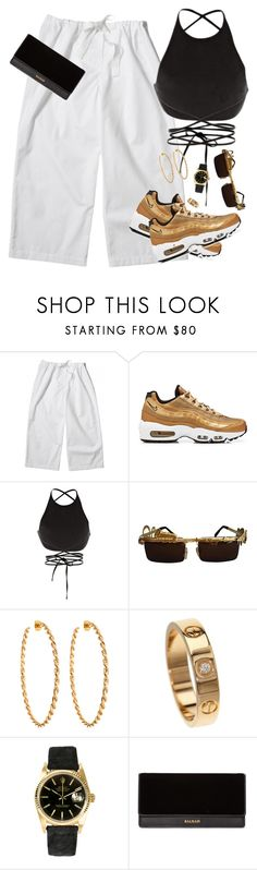 """""""Tuesday July 25th, 2017"""" by milean ❤ liked on Polyvore featuring NIKE, Calvin Klein Collection, Lisa Stewart, Cartier, Rolex and Balmain"""