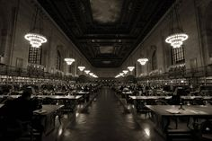 The reading room at the New York Public Library: