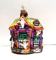 Christopher Radko Glass Halloween Ornament - Howl Manor | eBay