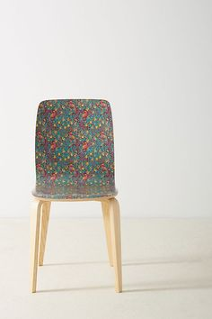 Slide View: Liberty for Anthropologie Tamsin Dining Chair Small Living Room Chairs, White Dining Chairs, Teal Accent Chair, Small Accent Chairs, New Furniture, Furniture Making, Heavy Duty Beach Chairs, Pedicure Chairs For Sale, Hanging Chair From Ceiling