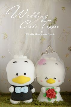 Pekkle wedding cake topper by charles fukuyama, via Flickr