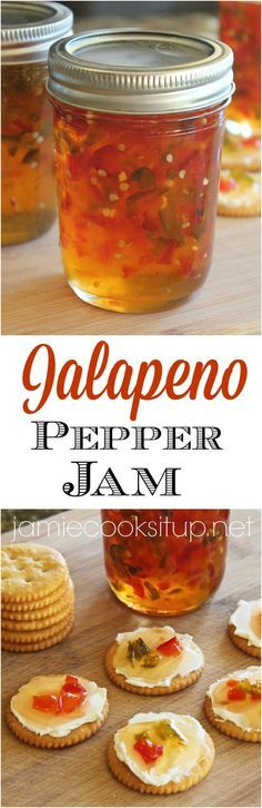 Jalapeno Pepper Jam  from Jamie Cooks It Up!