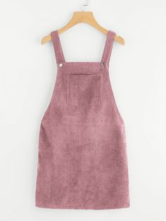 Shop Pocket Front Overall Corduroy Dress online. SheIn offers Pocket Front Overall Corduroy Dress & more to fit your fashionable needs. Shift Dresses, Sleeveless Dresses, Sleeveless Shirt, Sleeve Dresses, Preppy Dresses, Dress Outfits, Cord Pinafore Dress, Diy Vetement, Plain Dress