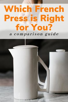 which french press is right for you? a comparison guide. if you are wanting to purchase a french press for your home coffee brewing, then we have created a comparison guide that will help you make that decision. #frenchpresscoffee #manualbrewcoffee #manualcoffeebrewing #homebarista
