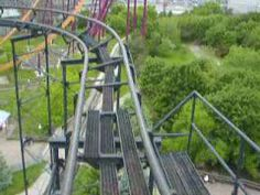 Front Seat Demon Roller Coaster Six Flags Gurnee, Illinois