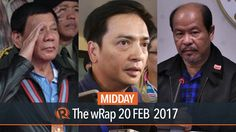 Lascañas, peace talks, South China Sea | Midday wRap - WATCH VIDEO HERE -> http://dutertenewstoday.com/lascanas-peace-talks-south-china-sea-midday-wrap/ Today on Rappler: A veteran Davao City cop on Monday says the Davao Death Squad is real, corroborating earlier claims by whistle-blower Edgar Matobato on President Rodrigo Duterte's involvement in the so-called DDS. Top security officials of President Rodrigo Duterte express openness to resume t...
