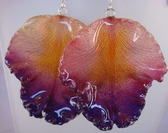 Real Australian Orchid Petal coated in resin