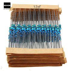 New Arrival 640Pcs 1R - 10MR 1/4w 1% Metal Film Resistors Kit 64 Values Assortment Pack Mix Low noise Resistor Set  #Affiliate