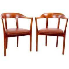 Pair of Armchairs by Ole Wanscher
