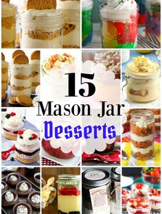 These 15 Mason Jar Desserts Sure To Satisfy Your Sweet Tooth put the fun into stylish snacking with portability to boot. Perfect for on-the-go sweet eats. Mason Jar Cakes, Mason Jar Desserts, Mason Jar Meals, Meals In A Jar, Mason Jars, Mini Desserts, Single Serve Desserts, Just Desserts, Dessert Recipes