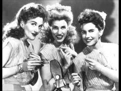 In the Mood - Andrew Sisters. I've rarely heard the vocal version!