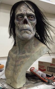 Mike Hill's sculpt of Bernie Wrightson's Frankenstein. Wow!!