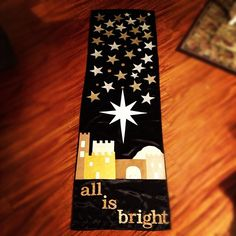 All is bright. This would make a cute idea for Christmas bulletin board.