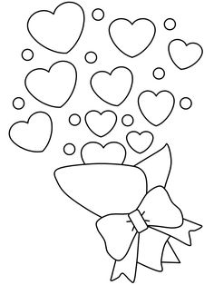 Printable Valentines Day Bouquet coloring pages for kids. print out Printable Valentines Day Bouquet coloring pages for preschoolers Printable Valentines Coloring Pages, Valentines Day Coloring Page, Free Printable Coloring Pages, Free Coloring Pages, Cute Valentines Day Ideas, Kinder Valentines, Valentines Day Hearts, Valentine Day Cards, Heart Coloring Pages
