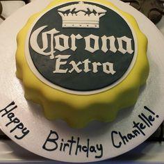 Corona bottle cap cake
