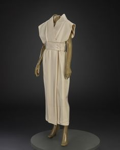 Spring 1965, America - Day dress by Norman Norell - Silk crepe de chine