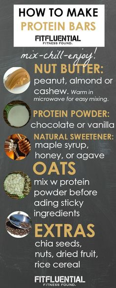 homemade protein bars- use this recipe and you'll have a nutritious, protein.,Healthy, Many of these healthy H E A L T H Y . homemade protein bars- use this recipe and you'll have a nutritious, protein packed snack on hand for breakf. Protein Dinner, Protein Packed Snacks, Protein Bar Recipes, Protein Powder Recipes, Protein Foods, Snack Recipes, Cooking Recipes, Healthy Recipes, Homemade Protein Bars