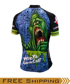 Ghostbusters Slimer Cycling Jersey by Brainstorm Gear Women s with Socks  (Free USA Shipping) d3bd86c38