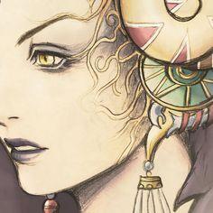 Edea Kramer Coffee Mug by mcashe_art Arte Final Fantasy, Cosplay Ideas, Larp, Character Concept, Manga, Eyes, Coffee, Disney, Artist