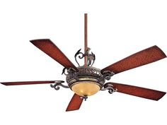 Minka-Aire Napoli Sterling Walnut Two-Light 56'' Wide Indoor Ceiling Fan