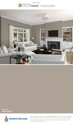 I found this color with ColorSnap® Visualizer for iPhone by Sherwin-Williams: Mega Greige (SW 7031).