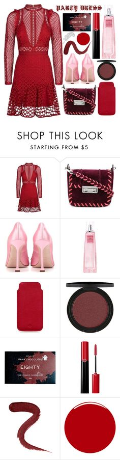 """time to party"" by foundlostme ❤ liked on Polyvore featuring self-portrait, Lanvin, Miu Miu, Givenchy, Mulberry, Giorgio Armani, LASplash, Christian Louboutin, Allurez and longsleeve"