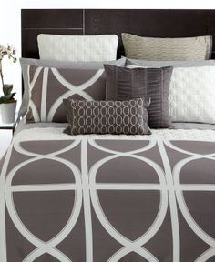 hotel collection bedding transom charcoal collection bedding collections bed u0026 bath macyu0027s