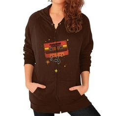 Star Lord's Awesome Mix Zip Hoodie (on woman)