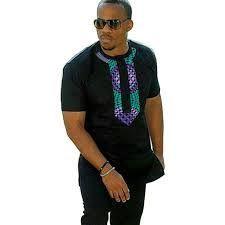 African men's clothes custom made ankara print shirts men summer short sleeve t-shirt patchwork dashiki tops African Tops, African Shirts, African Clothes, Nigerian Men Fashion, African Print Fashion, Mens Fashion, African Attire, African Wear, African Dress