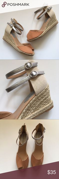 NEW Paprika Espadrille Nude & Silver Sandals 10M Brand new with tags  Espadrille style low-