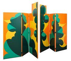 Screen by Giacomo Balla, 1971. Wood covered in silk-screen print.  Produced by Gavina.