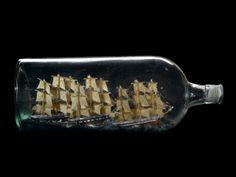 Ship in Bottle Scale Model Boat In A Bottle, Ship In Bottle, Bottle Art, Kite Making, Maritime Museum, Nautical Art, Message In A Bottle, Ship Art, Model Ships