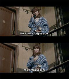 No, I don't forgive you. · Yes, I forgive him.