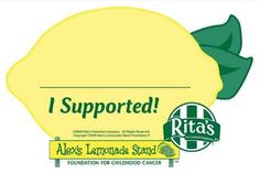 Alex's Lemonade Stand at RIta's Italian Ice